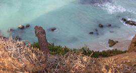 כתם הזיהום הצהוב ב נוף ים ב הרצליה, צילום: דרור עזרא