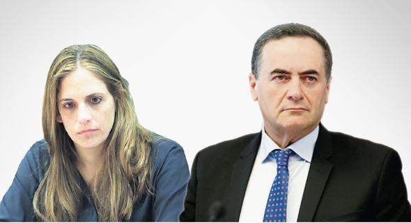 """מימין: שר התחבורה ישראל כץ ומנכ""""לית משרד התחבורה קרן טרנר אייל"""
