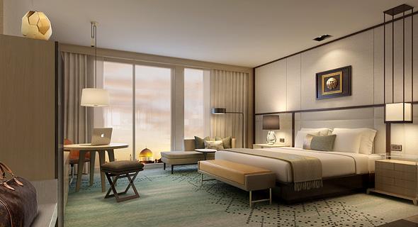 הדמיית חדר במלון