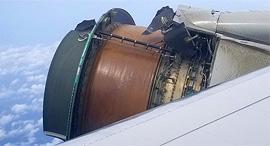 מנוע מטוס מתפרק ב אוויר, צילום: Maria Falaschi/Twitter