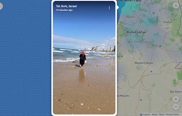 סטורי מחוף תל אביב