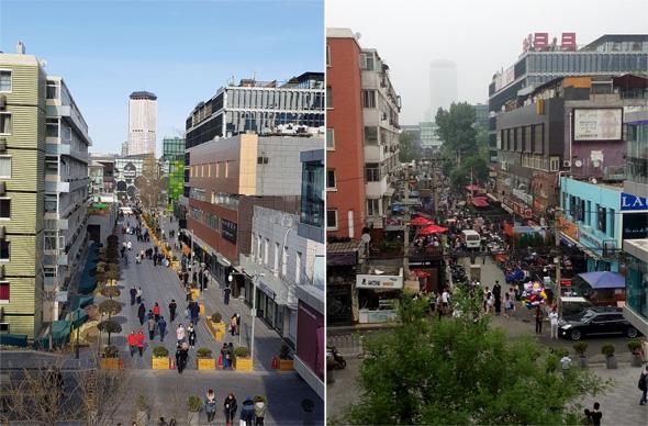 מימין: רחוב הבארים סאנליטון בבייג