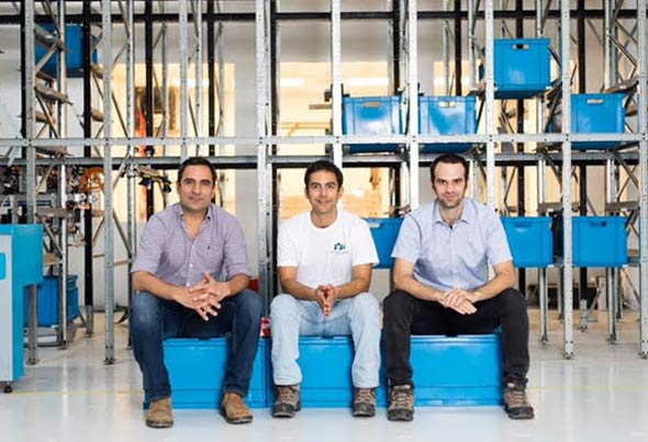 CommonSense Robotics founders Ori Avraham, Elram Goren and Eyal Goren. Photo: PR