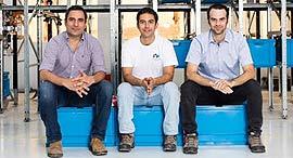 אורי אברהם, אלרם גורן ואייל גורן, צילום: Commonsense Robotics