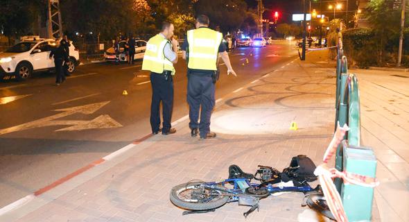 תאונה שבה היו מעורבים אופניים חשמליים השנה
