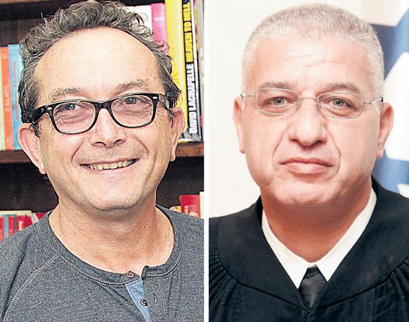 """השופט עאטף עילבוני ומיכה הוניגמן. """"במחוזי בתל אביב זה לא היה קורה"""""""