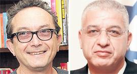 מימין  שופט עאטף עילבוני ו מיכה הוניגמן, צילום: רפי דלויה