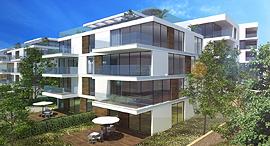 הדמיה של בית דירות שיוקם בקיסריה, הדמיה: שוורץ בסנוסוף אדריכלים
