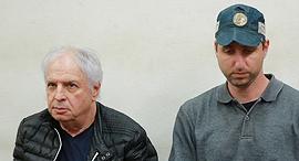שאול אלוביץ' יושב ב הארכת מעצר ב בית המשפט, צילום: אוראל כהן