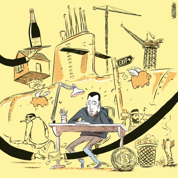 למישהו יש רעיון מה לצייר היום? קריקטוריסט / דיוקן עצמי