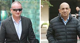 מימין דוד שרן חקירה רשות ני״ע ו הראל לוקר מנכל משרד רוהמ לשעבר, צילום: אוראל כהן