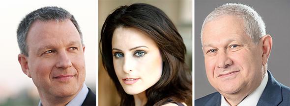 Erel Margalit, Abigail Posner and David Brodet, left to right