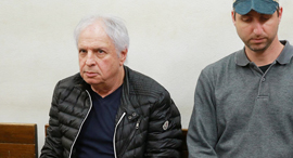 שאול אלוביץ' בעת הארכת מעצרו, צילום: אוראל כהן