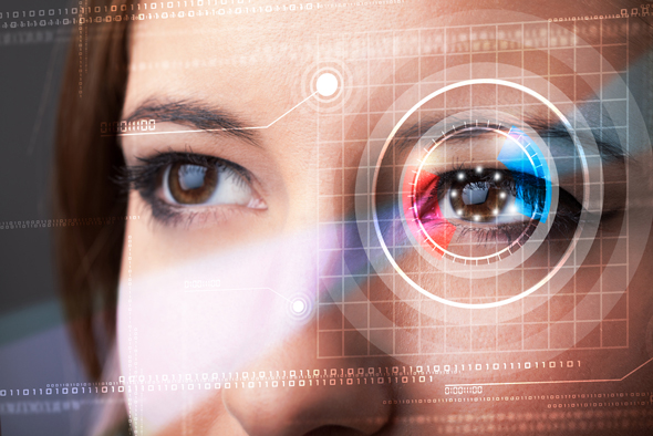 a retina scan. Photo: Shutterstock