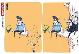 קריקטורה 21.2.18, איור: יונתן וקסמן