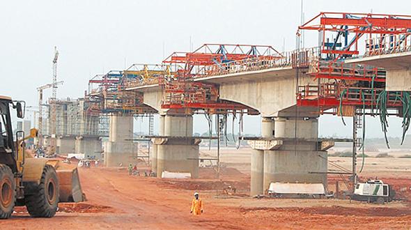 גשר שבנתה שיכון ובינוי באפריקה