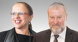 אביחי מנדלבליט והילה גרסטל, צילום: שאול גולן, אוראל כהן