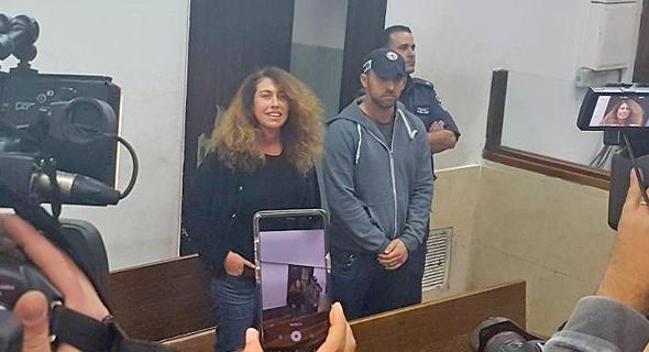 """סטלה הנדלר בדיון בהארכת מעצרה. שקד: """"אנשים שחרב עליהם עולמם לא צריכים לעבור את ההליך המבזה הזה"""", צילום: תומר גנון"""