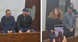 סטלה הנדלר ו עמיקם שורר בזק הארכת מעצר, צילום: תומר גנון