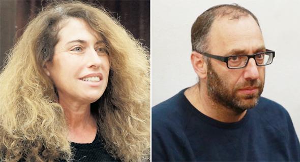 פרשת בזק הארכת מעצרים  עמיקם שורר ו סטלה הנדלר, צילום: אוראל כהן