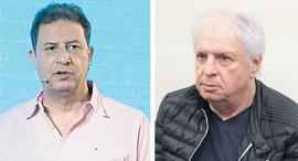 """מימין שאול אלוביץ' ומנכ""""ל yes רון אילון, צילום: טל שחר, אוראל כהן"""