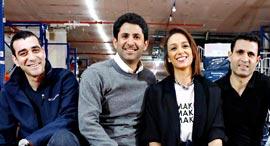 מייסדי Shoesonline שוז און ליין נעליים אלעד טל רעיה רוזפק יוסי כראדי ו דקל סטולרו, צילום: שאול גולן