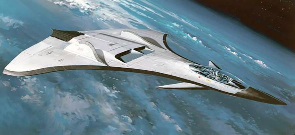 עיצוב קונספט נוסף, בעל כנפיים ארוכות יותר