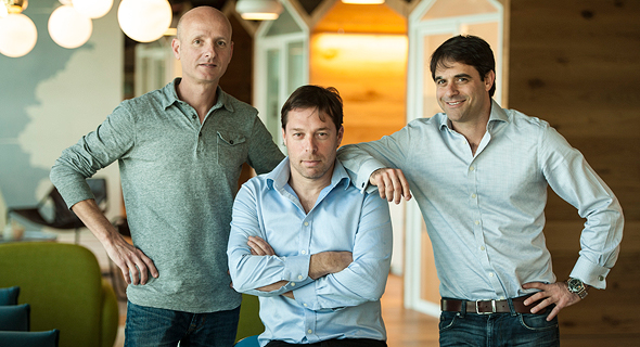 Mixer founders Omer Granit, Eyal Naveh and Dror Katzir, right to left. Photo: Mixer PR