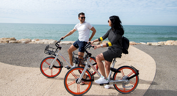 Mobike bicycles. Photo: Yael Amir