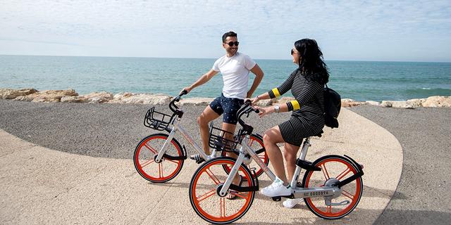 אופני מובייק בתל אביב, צילום: יעל אמיר