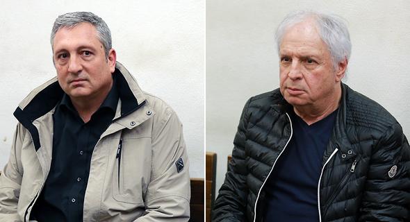 מימין שאול אלוביץ' ניר חפץ הארכת מעצר, צילום: אוראל כהן