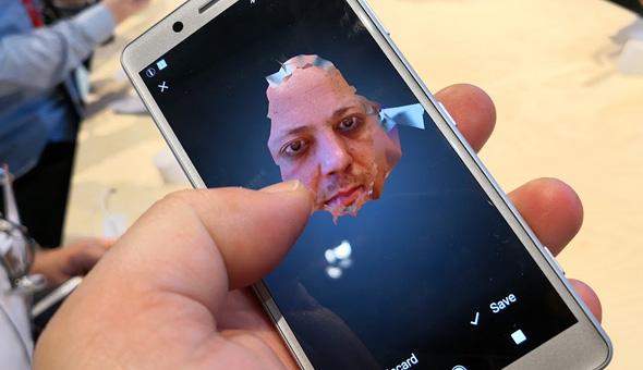 סריקת הפנים ב-XZ2
