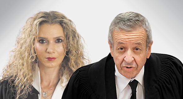 השופט אליעזר ריבלין והשופטת פוזננסקי־כץ