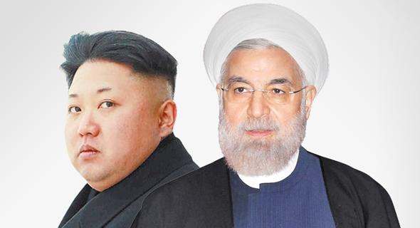 נשיא איראן חסן רוחאני ו קים ג'ונג און נשיא קוריאה הצפונית , צילום: רויטרס, איי פי