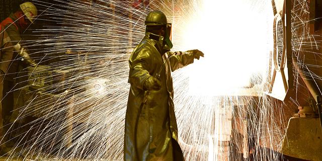 """מפעל פלדה בגרמניה. ארגון הסחר העולמי הזהיר שהפוטנציאל להגברת המתחים הוא """"אמיתי"""", צילום: גטי אימג"""