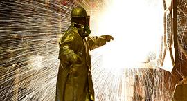 מפעל פלדה בגרמניה, צילום: גטי אימג'ס