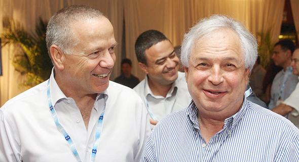 מימין שאול אלוביץ ו שלמה רודב, צילום: רונן טופלברג