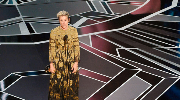 פרנסס מקדורמנד זוכה בפרס השחקנית הטובה ביותר