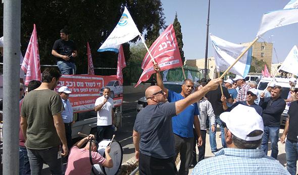 ההפגנה של מפעלי רכבי עבודה, צילום: העמותה לשווי מס רכב הוגן
