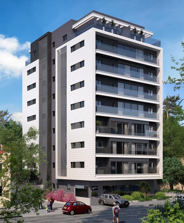הדמיית הפרויקט ברמת גן. דירות יימכרו ב-1.5 מיליון שקל ל-3 חדרים