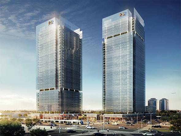 שני המגדלים בפרויקט גלובל טאוורס