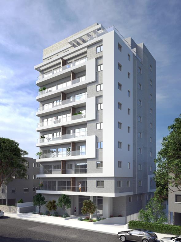 """פרויקט """"תרפ""""ב 10"""" במרכז העיר רמת גן , הדמיה: Kromba 3d studio"""