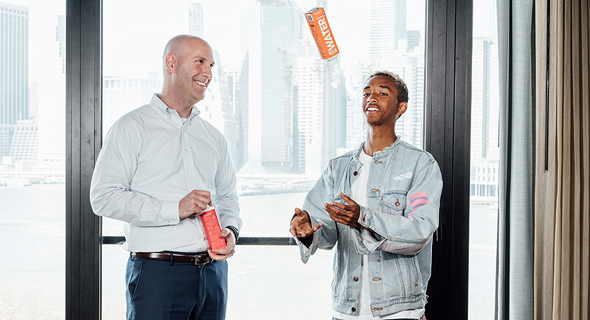 Just CEO Ira Laufer with founder Jaden Smith. Photo: Cesar Soto