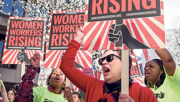 צעדת יום האשה ב וושינגטון 2017, איור: איי אף פי
