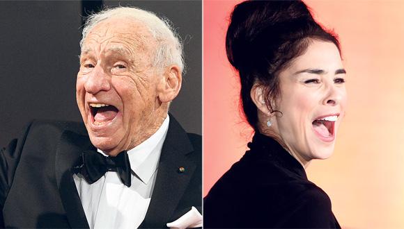 שרה סילברמן ו מל ברוקס, צילומים: אי פי איי