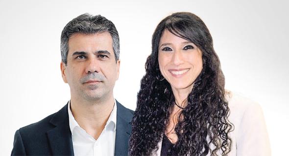 """מנהלת הרשפ""""ת זיוה איגר ו שר הכלכלה אלי כהן, צילום: עמית שעל, ארז ליכטפלד"""