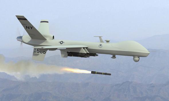 """מל""""ט תקיפה אמריקאי בפעולה"""