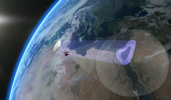 אילוסטרציית לוויין של NSLComm