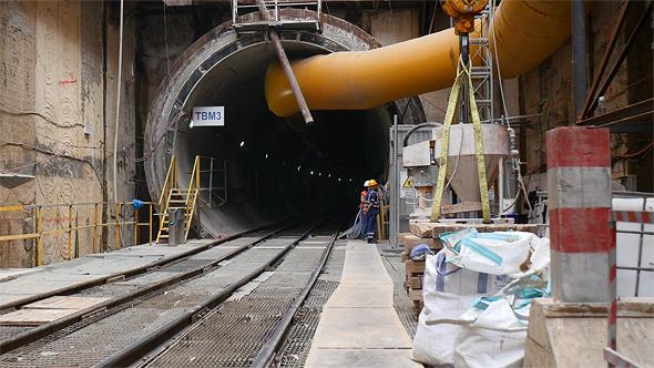 בניית הרכבת הקלה בתל אביב, צילום: דור מנואל
