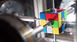 רובוט קובייה הונגרית שיא עולמי 1, צילום: youtube